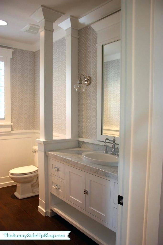 wainscoting in a small bathroom
