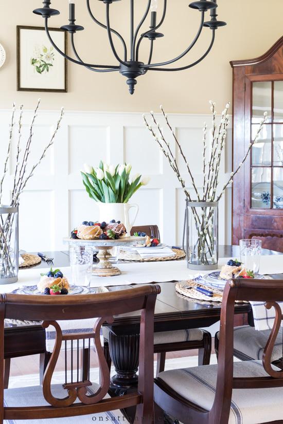 round dining table setting ideas breakfast decoration modern
