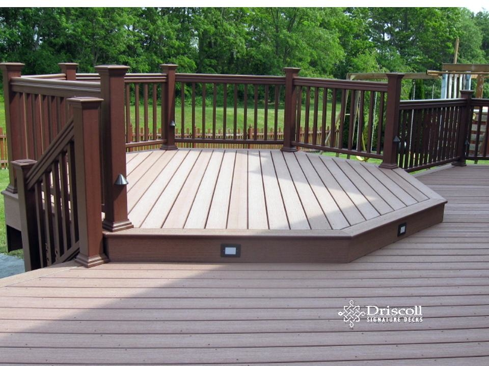 Octagon deck after staining, view 3