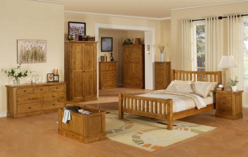 Oak bedroom furniture made by Corndell