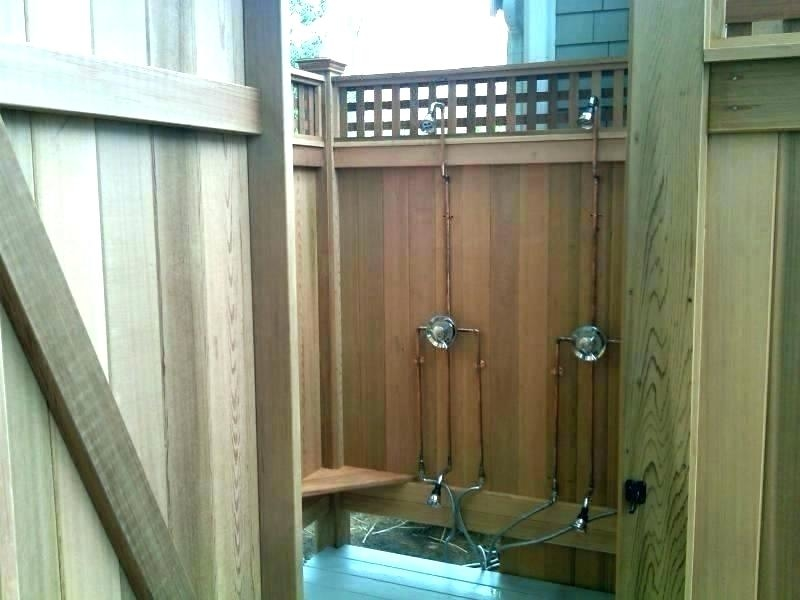 12 tropical resorts with dreamy outdoor showers coastal living out door shower folding door shower screen