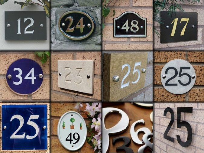 Designer House Numbers