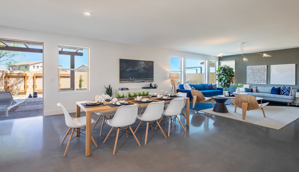 The home has sweeping views of the Las Vegas Valley