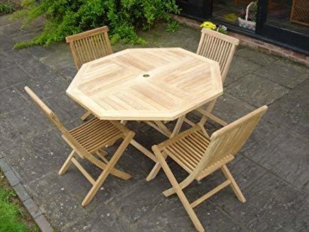 Teak Boston Set Wooden Garden Patio Furniture: Amazon