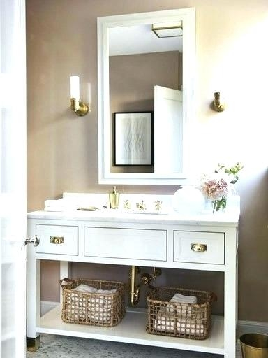 Bathroom Picture Frame Ideas Chic Mirror Frame Ideas Using White Wall Color And Deep Finished Wooden Vanity For Incredible Bathroom Ideas Bathroom Photo