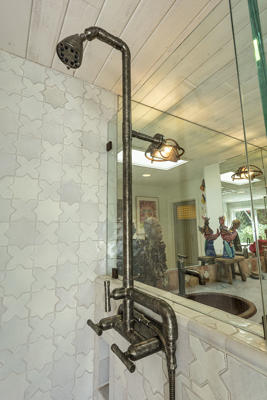 outdoor shower copper fixtures showers