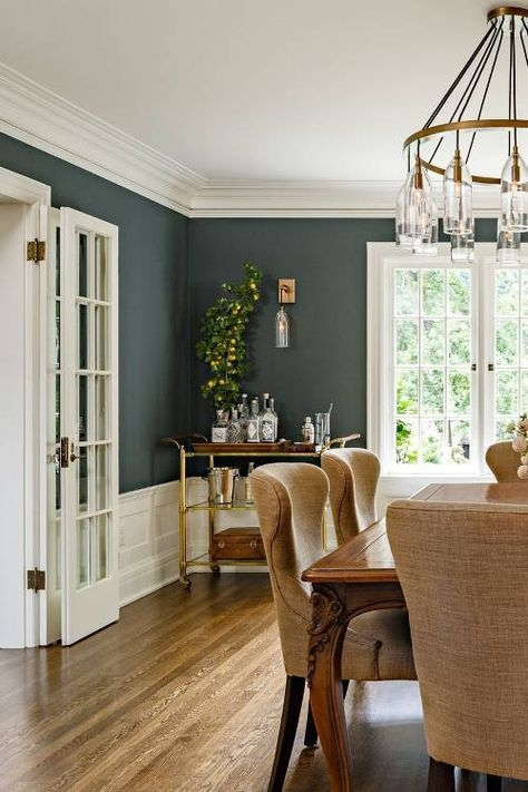 Subtle Sage Dining Room