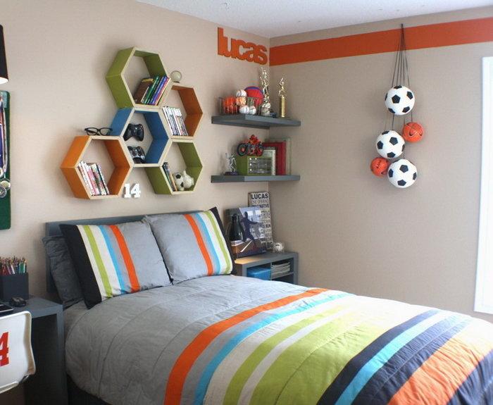 football themed toddler room