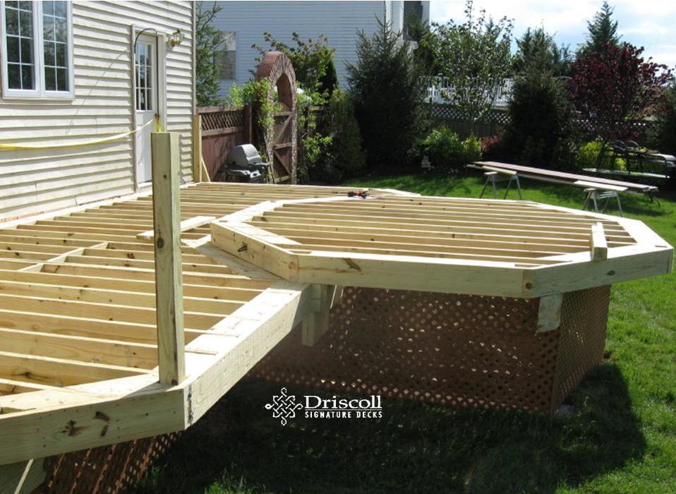 2 tier deck designs happy two tier deck storage 2 home design 2 tier octagon  deck