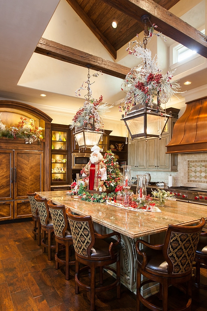 s how to decorate a kitchen island christmas decorating ideas